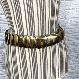 Vintage Gold Elastic Belt